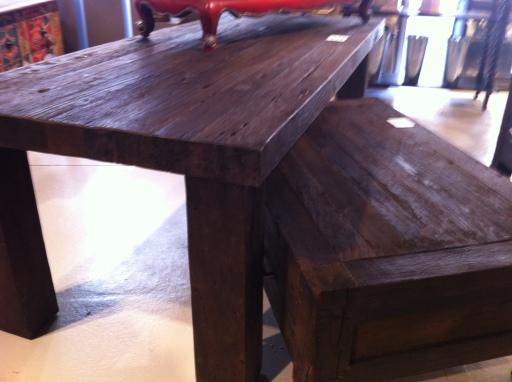 Natural grain wood furniture