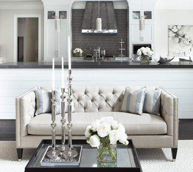 french tufted sofa